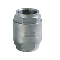 SS316 2 Piece Spring Loaded Check Valve Threaded